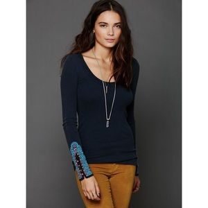 Free people cuff thermal Henley